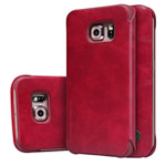 Чехол Nillkin Qin leather case для Samsung Galaxy S6 edge SM-G925 (красный, кожаный)