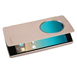 Чехол Nillkin Sparkle Leather Case для LG Magna H502f (золотистый, винилискожа)