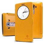 Чехол Nillkin Fresh Series Leather case для LG G4 F500 (желтый, кожаный)
