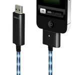USB-кабель Dexim Visible Green для Apple iPad/iPhone/iPod (с индикацией) (черный)