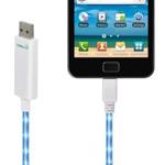 USB-кабель Dexim Visible Green универсальный (microUSB) (с индикацией) (белый)