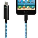 USB-кабель Dexim Visible Green универсальный (microUSB) (с индикацией) (черный)