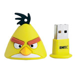 Флеш-карта Angry Birds USB (8Gb, USB 2.0, желтая)