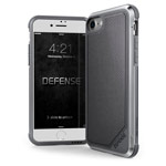 Чехол X-doria Defense Lux для Apple iPhone 8 (Gray Nylon, маталлический)