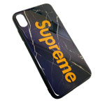 Чехол Synapse Glassy Case для Apple iPhone XS max (Supreme Black, гелевый/стеклянный)