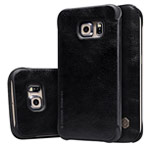 Чехол Nillkin Qin leather case для Samsung Galaxy S6 edge SM-G925 (черный, кожаный)