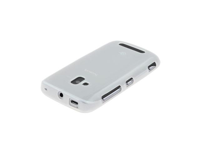 Чехол Yotrix SoftCase для Nokia Lumia 610 (гелевый, белый)