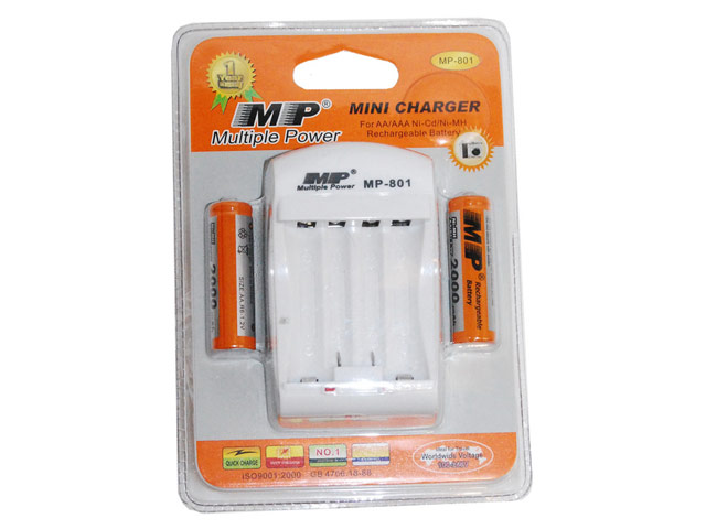Зарядное устройство MP 801 AA 2000*2