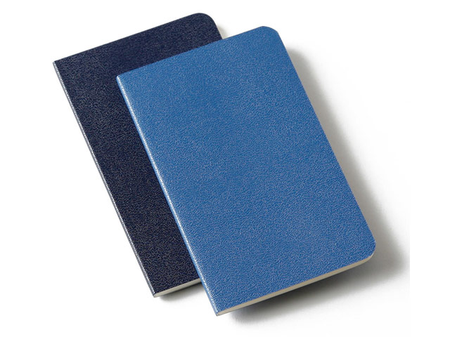 Записная книжка Moleskine Volant (210x130 мм, синяя, линейка, набор 2 шт. по 96 страниц)